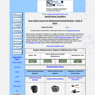 Small Engine Suppliers - Your online source for Replacement Small Engines, Tools & Parts