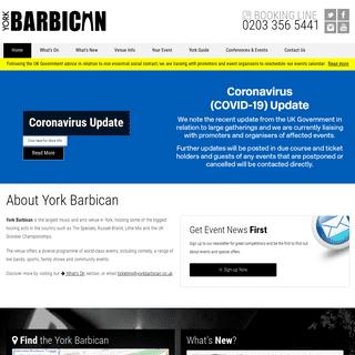 Home - York Barbican