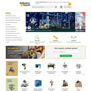 Industrial Machinery, Equipment & Supplies - IndustrySearch.com.au