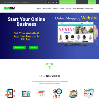 Start your Business like Amazon and Flipkart in No time - Raunix