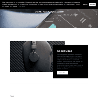 Dirac specializes in Digital Room Correction, Sound Optimization, Sound Field Control
