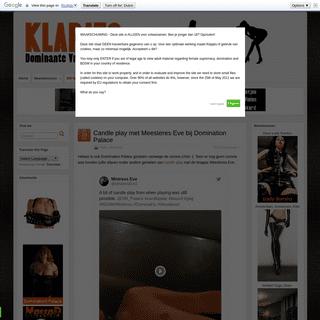Dominante Vrouwen Blog met Meesteressen en informatie -