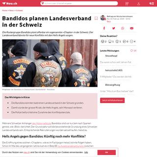 Bandidos planen Landesverband in der Schweiz