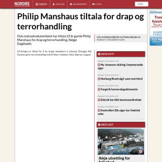 Philip Manshaus tiltala for drap og terrorhandling