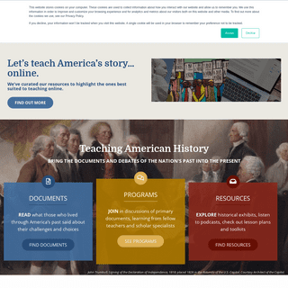 Home - Teaching American History