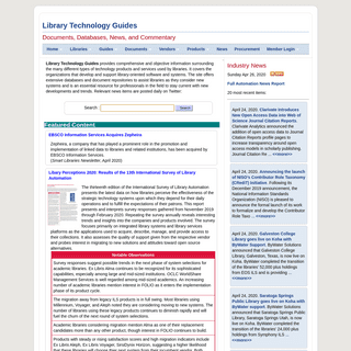 Library Technology Guides- Documents, Databases, News, and Commentary