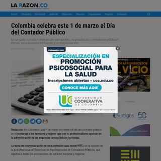 Colombia celebra este 1 de marzo el Día del Contador Público