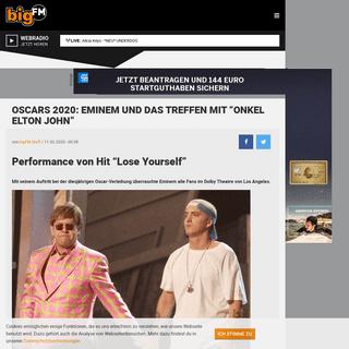 """Oscars 2020- Eminem und das Treffen mit """"Onkel Elton John"""" - bigFM"""