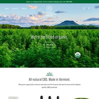Sunsoil - USDA Certified-Organic Hemp CBD Oil - Grown in Vermont