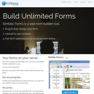 Simfatic Forms - build unlimited web forms.