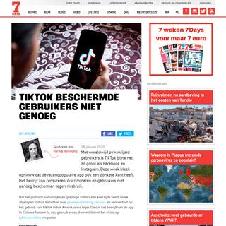 ArchiveBay.com - www.sevendays.nl/nieuws/tiktok-beschermde-gebruikers-niet-genoeg - TikTok beschermde gebruikers niet genoeg - 7Days