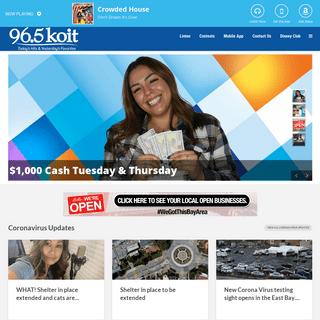 96.5 KOIT Today's Hits & Yesterday's Favorites At Work - 96.5 KOIT