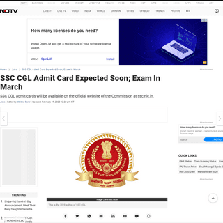 ArchiveBay.com - www.ndtv.com/jobs/ssc-cgl-admit-card-expected-soon-ssc-nic-in-2181810 - SSC CGL Admit Card Date Update- SSC To Release CGL Admit Card @ ssc.nic.in Soon