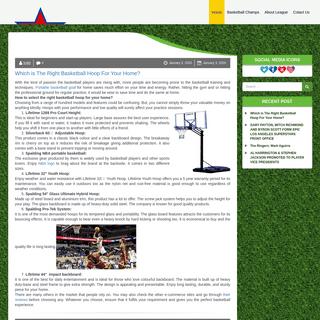 Champs Hoops – Portable Basketball Hoop – Best Basketball Goal Reviews
