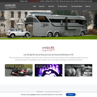 American Motorhome Hire and RVs for sale - UK & Europe