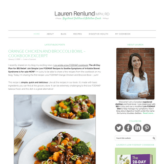 Lauren Renlund MPH RD – Registered Dietitian and Nutrition Coach