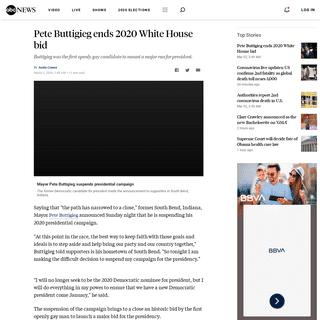 Pete Buttigieg ends 2020 White House bid - ABC News