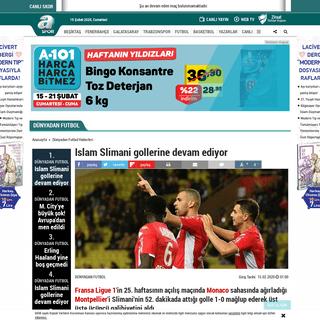 Islam Slimani gollerine devam ediyor - Aspor