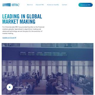 Leading In Global Market Making - IMC Trading - IMC