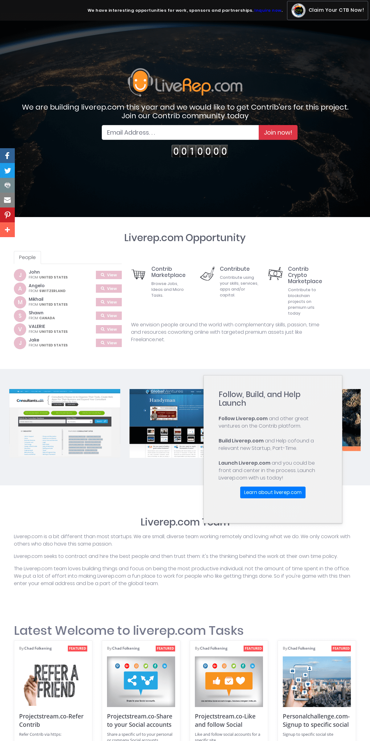 Welcome to liverep.com - Homepage