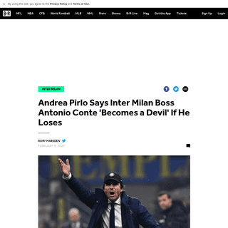 Andrea Pirlo Says Inter Milan Boss Antonio Conte 'Becomes a Devil' If He Loses - Bleacher Report - Latest News, Videos and Highl