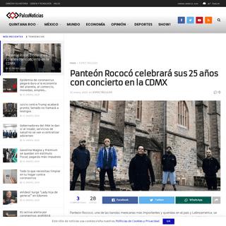Panteón Rococó celebrará sus 25 años con concierto en la CDMX – Palco Noticias