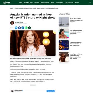 Angela Scanlon named as host of new RTE Saturday Night show - Lovin.ie