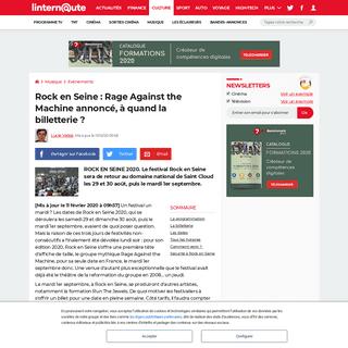 Rock en Seine- Rage Against the Machine annoncé, à quand la billetterie-