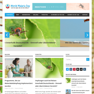 World Malaria Day - Lasst uns zeigen, dass uns das wichtig ist.