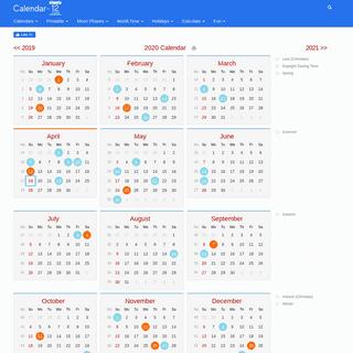 2020 Calendar - Calendar-12.com