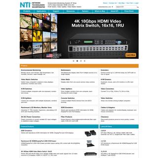 ArchiveBay.com - networktechinc.com - NTI Network Technologies Inc Environment Monitoring HDMI Extender