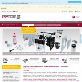 Ersatzteile für Kaffeevollautomaten- Delonghi, Jura, Siemens, Bosch u.v.m. komtra.de