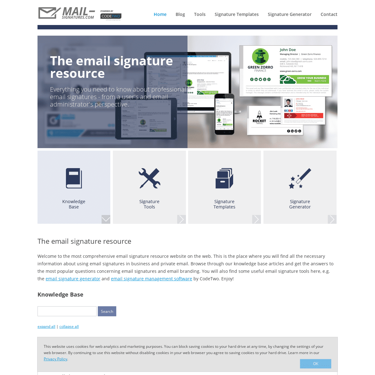 The email signatures resource - your guide to email signatures