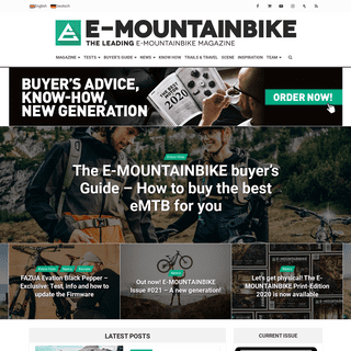 E-MOUNTAINBIKE Magazine - The leading E-Mountainbike Magazine