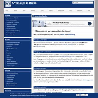 Gymnasium Berlin - Liste der Berliner Gymnasien
