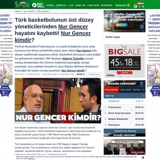 Türk basketbolunun üst düzey yöneticilerinden Nur Gencer hayatını kaybetti! Nur Gencer kimdir- - ...