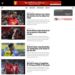 We All Follow United - Manchester United Blogs And Opinions
