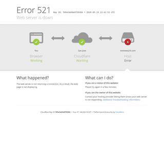 evenews24.com - 521- Web server is down
