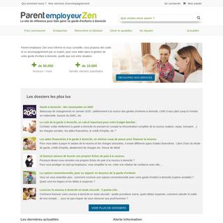 Parent employeur Zen - Accueil - Parent employeur Zen