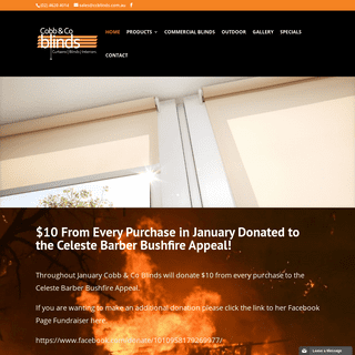 Cobb & Co Blinds, shutters, curtains, blinds and outdoor living