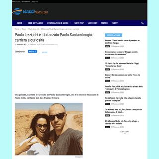 Paola Iezzi, chi è il fidanzato Paolo Santambrogio- carriera e curiosità