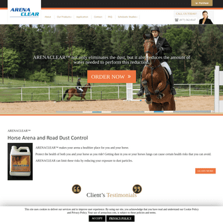 Horse Arena dust, Road, Indoor, Riding Dust Control Products