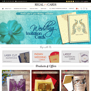 Indian Wedding Cards & Invitations - Hindu, Muslim (Islamic), Sikh & Punjabi Marriage Invitation Cards from India - Regal Cards