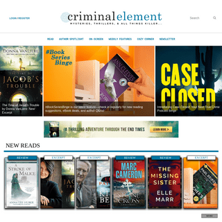 Criminal Element — Mysteries, Thrillers, and all things Killer!