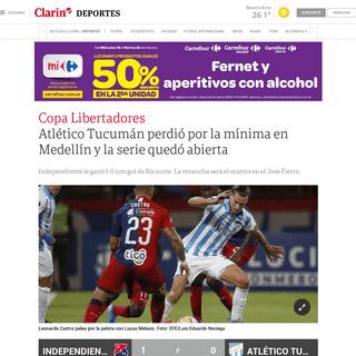 ArchiveBay.com - www.clarin.com/deportes/independiente-medellin-vs-atletico-tucuman-hora-formaciones-verlo-vivo_0_WIn-Od4m.html - Atlético Tucumán perdió por la mínima en Medellín y la serie quedó abierta - Clarín