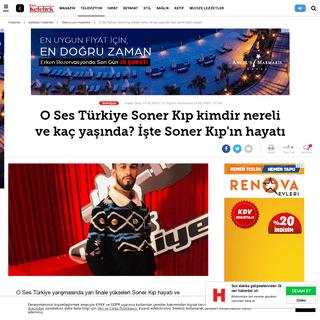 O Ses Türkiye Soner Kıp kimdir nereli ve kaç yaşında- İşte Soner Kıp'ın hayatı