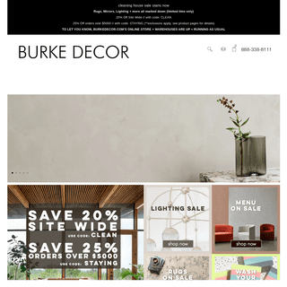 Burke Decor features designer home furnishings and modern home decor