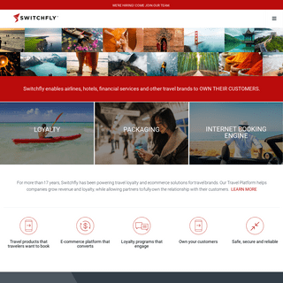 Switchfly - a travel e-commerce platform with a global network of activity, airline, car rental, hotel, insurance, and financial
