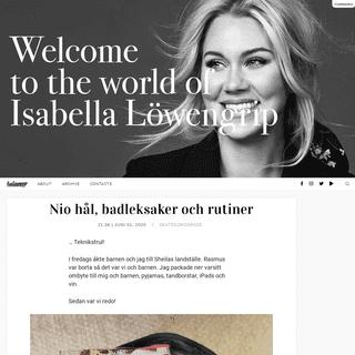 Nio hål, badleksaker och rutiner - Isabella Löwengrip
