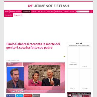 Paolo Calabresi racconta la morte dei genitori, cosa ha fatto suo padre - Ultime Notizie Flash